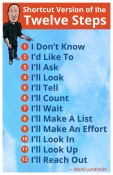 Shortcuts to the Twelve Steps poster   Mark Lundholm